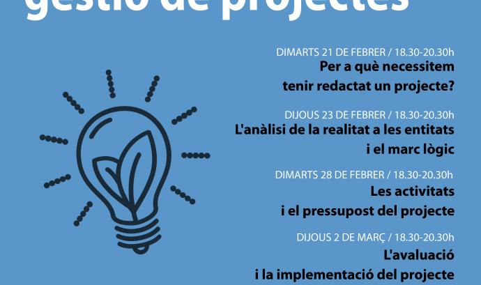 Cicle de disseny, redacció i gestació de projectes 2017, organitzat pel CRAJ