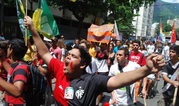 Protestes contra el Mundial. Font:
