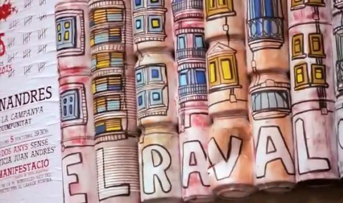Obres que es poden veure pels carrers del Raval Font: Ateneu del Raval