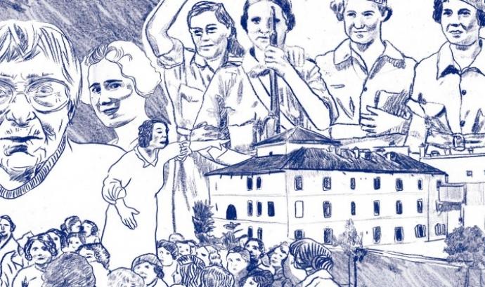 Il·lustració sobre feminisme obrer, portada del llibre 'El Raval i els inicis del feminisme obrer'