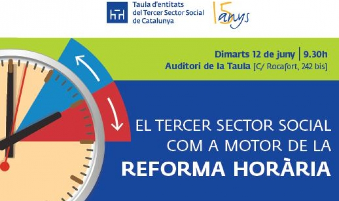 Jornada: 'El Tercer Sector Social com a motor de la Reforma Horària'