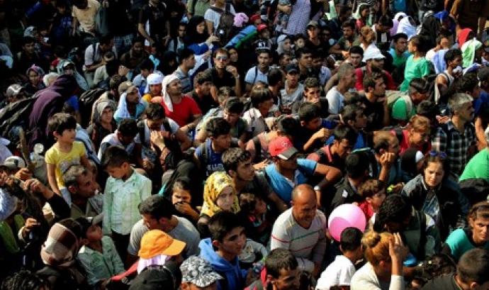 Refugiats acumulats a Idomeni Font: