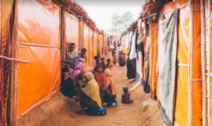 Refugiats rohingyes.  Font: GoFundMe