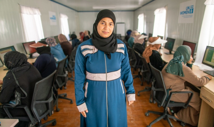 Catalunya va rebre durant l'any 2019 un total de 13.270 sol•licituds d'asil internacional. Font: UN Women, Flickr
