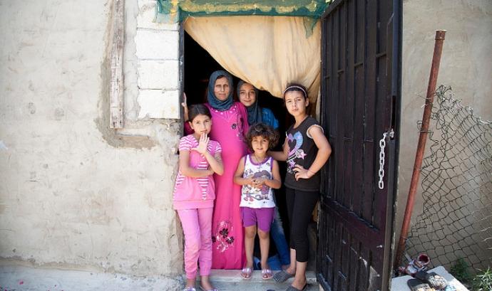 Família de refugiades sirianes. Font: UNHCR/ACNUR Américas Font: