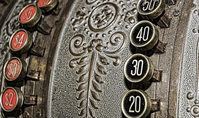 Caixa registradora vintage. Font: web Pixabay Font: