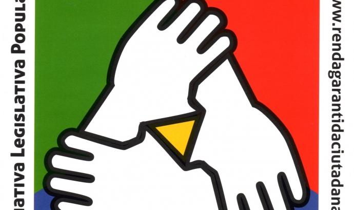 El logotip de la comissió promotora de l'ILP per a la renda garantida Font: Comissió promotora de l'ILP per a la Renda Garantida Ciutadana
