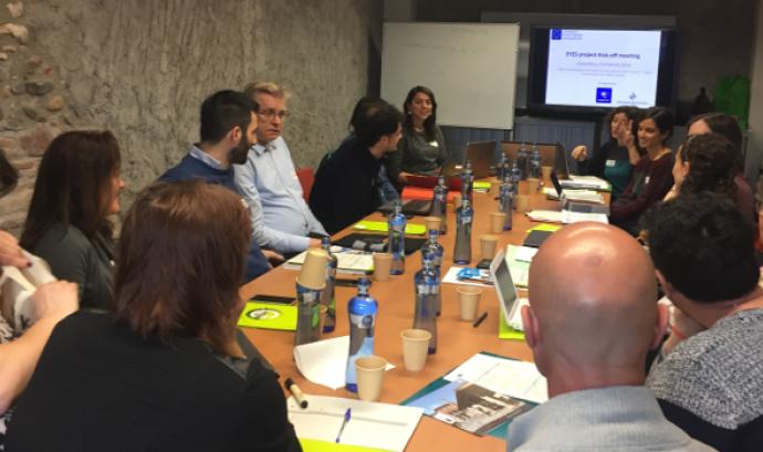 Imatge de la reunió inicial del projecte 'EYES' celebrada a Granollers els dies 5 i 6 de març. Font: Ecoserveis