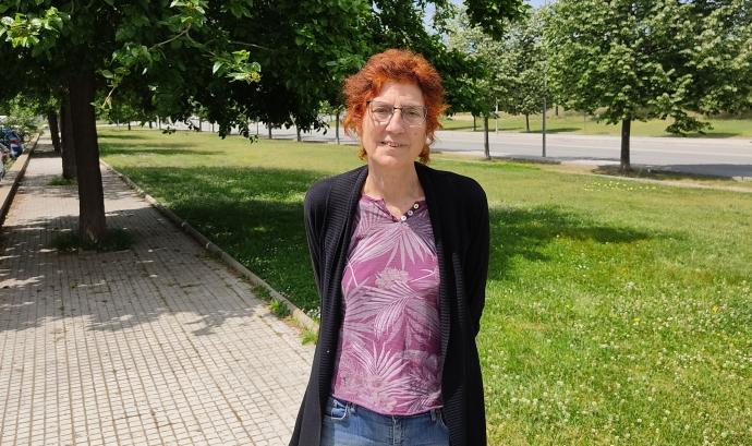 Rosa Guinot, presidenta de la Coordinadora pel Comerç Just i les Finances Ètiques i membre d'AlterNativa3. Font: Carlos Faneca