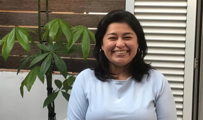 Rosario Palomino, catalana nascuda al Perú, és la impulsora de la iniciativa 'No em canviïs la llengua'. Font: R. P. Font: R. P.