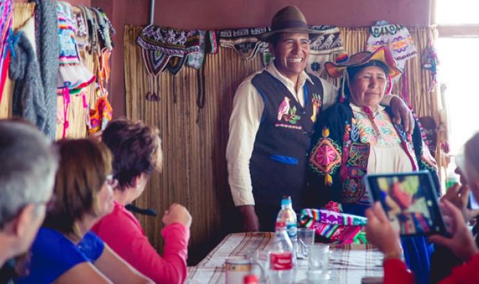 Turistes i persones autòctones a la Ruta Pachamama Font: Ruta Pachamama