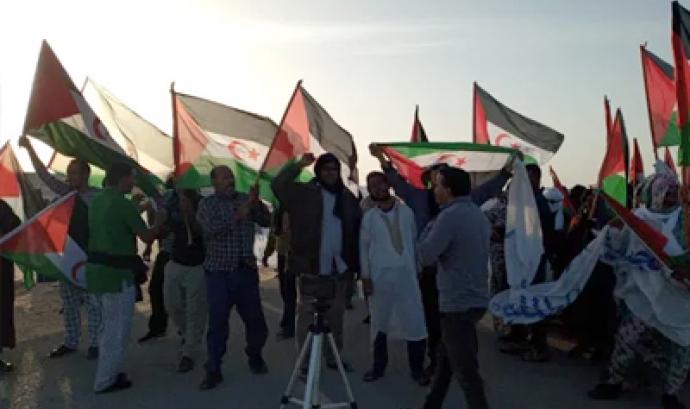 En les darreres setmanes s'estan produint protestes civils no-violentes del poble sahrauí en el punt fronterer de Guerguerat. Font: ACAPS