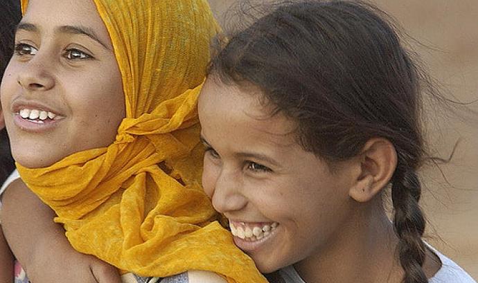 Nenes sahrauís. Font: United Nations Photo, Flickr Font:
