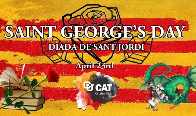 Cartell de Sant Jordi a Irlanda. Font: Institut Ramon Llull