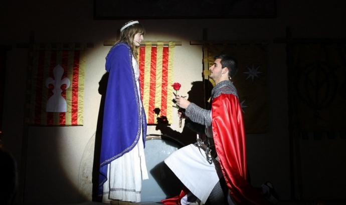 La princesa i el seu Sant Jordi de Montblanc de l'edició 2013