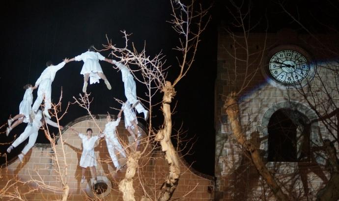 Imatge de l'espectacle de la Sardana aèria d'Arenys de Munt Font: