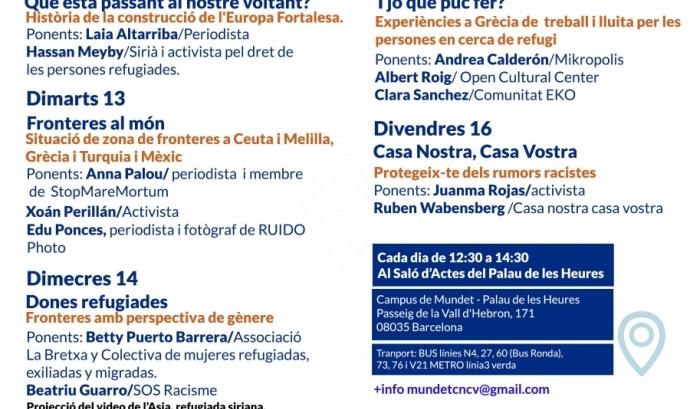Programa del seminari. Font: Lafede.cat