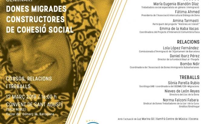 Seminari 'Dones migrades constructores de cohesió social: cossos, relacions i treballs'