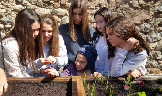 Una de les activitats de sensibilització que es va fer a les escoles del Ripollès Font: Fundació MAP