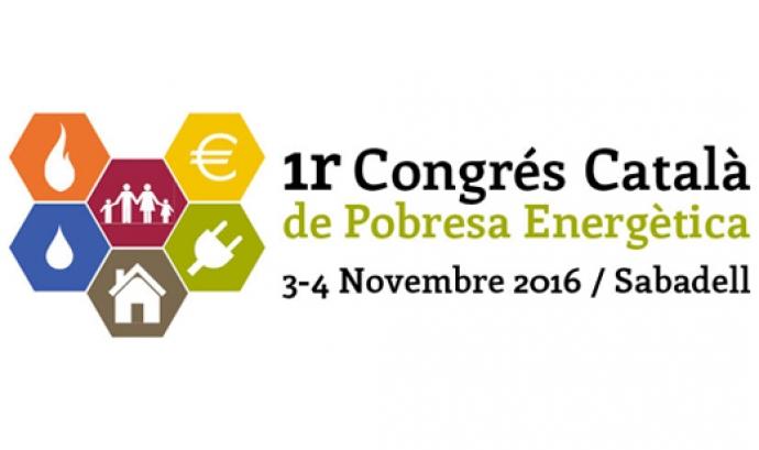 Logotip del I Congrés Català de Pobres Energètica. Font: Congrés Pobresa Energètica Font: