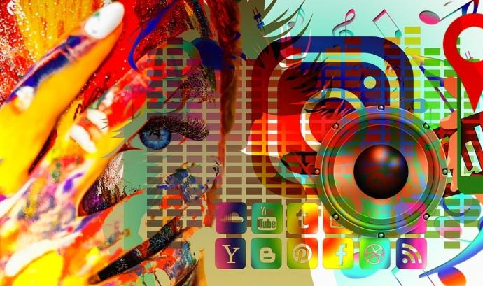 Il·lustració sobre xarxes socials