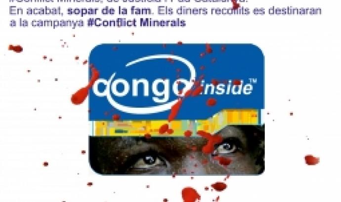 A través d'un testimoni de la R. D. Congo es parlarà sobre la violació dels drets humans a causa de l'explotació i comerç dels minerals. Font: Justícia i Pau.