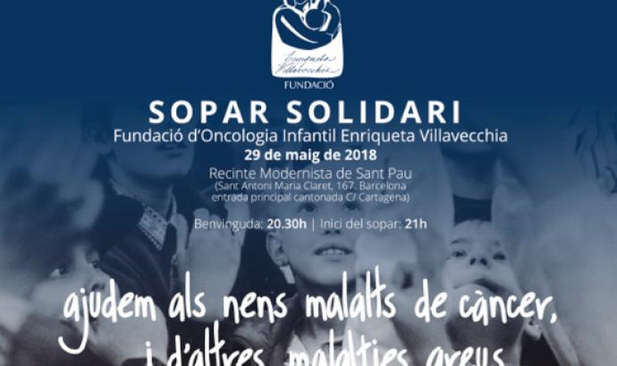 Cartell del sopar solidari. Font: Fundació d'Oncologia Infantil Enriqueta Villavecchia