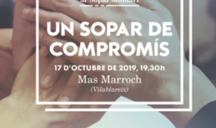 Cartell del sopar. Font: Càritas Girona