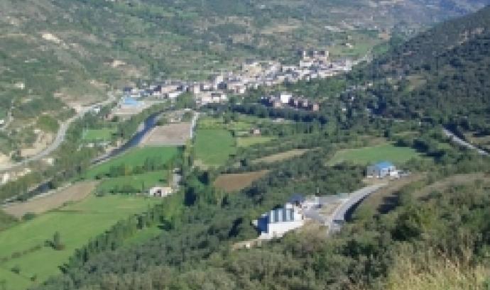 Vista de la població de Sort