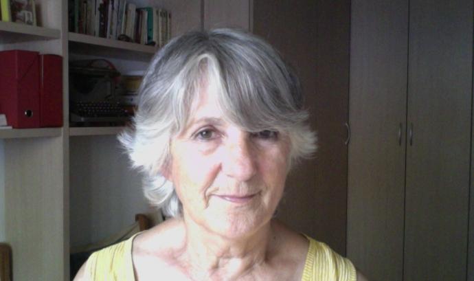 María-Cruz Santos, membre de la plataforma SOS Monuments. Font: María-Cruz Santos