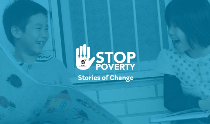 Imatge de la campanya Stop Poverty. Font: Stop Poverty