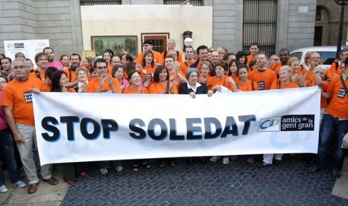 Stop Soledat, la marxa solidària d'Amics de la Gent Gran. Font: Xarxanet