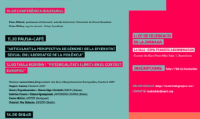 cartell Repensar les violències de gènere des de la diversitat sexual