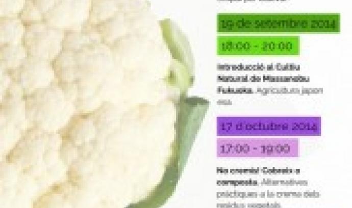 Cartell dels taller sobre Agricultura Sostenible de l'Associacó de Naturalistes de Girona (Image:ANG)