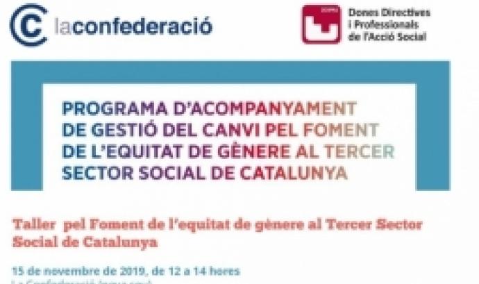 Cartell Taller pel foment de l'equitat de gènere al Tercer Sector Social de Catalunya