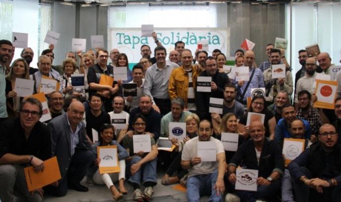 Foto de grup a l'acte de presentació de la iniciativa