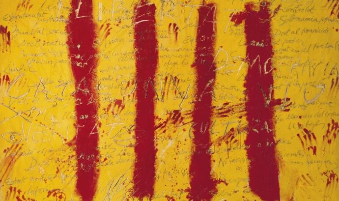 Imatge de 'L'esperit català', del pintor Antoni Tàpies. Font: Antoni Tàpies Font: Antoni Tàpies