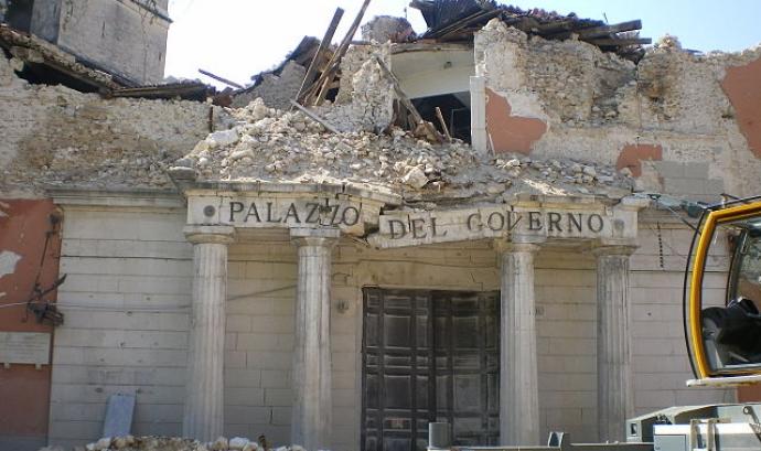 Terratrèmol a l'Aquila, a l'any 2009. Font: Wikipedia Font: