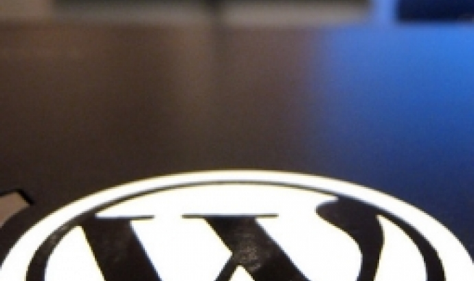 Fotografia del logotip de Wordpress. Imatge de Titanas. Llicència CC BY SA 2.0