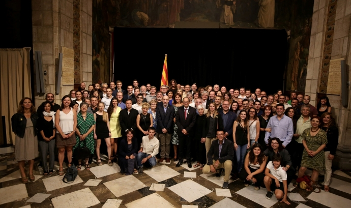 El president Quim Torra rep els ambaixadors de la cultura popular catalana. Foto: Generalitat de Catalunya