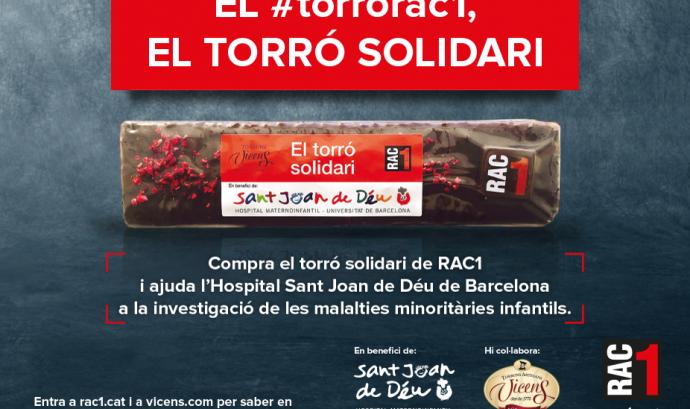 Torró Solidari RAC1. Font: RAC1 Font: