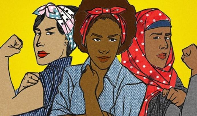 """Arriba """"Traçant vides dignes: cap a una economia feminista"""" - Foto: Anticapitalistes.net"""