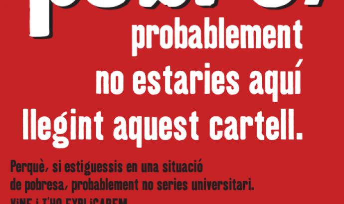 Cartell acte UB i Càritas Dia Internacional Eradicació pobresa