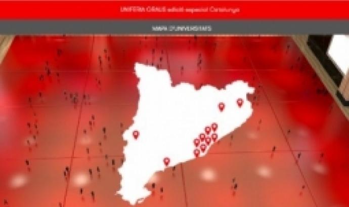 Mapa universitats