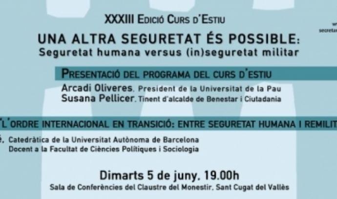 Presentació XXXIII edició del Curs d'Estiu de la Unipau