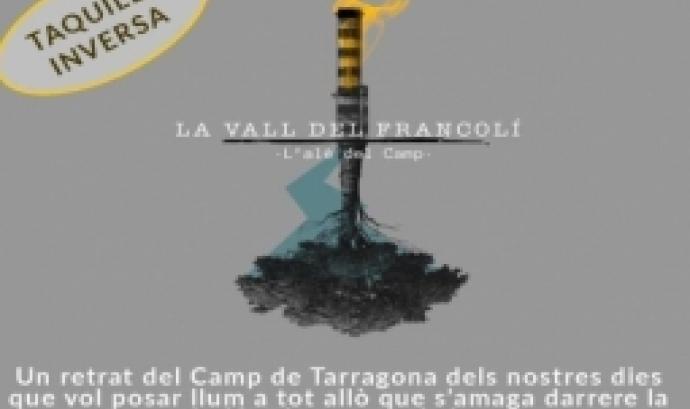 """Cartell de la projecció del documental 'La Vall del Francolí"""" a Reus"""