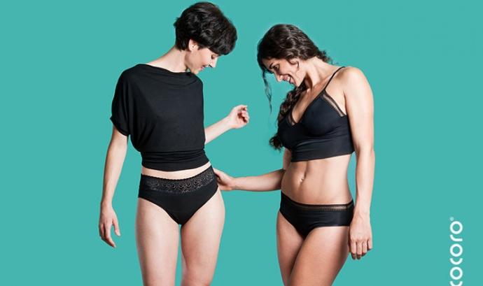 Cocoro, les calces que absorbeixen la regla / Foto: Femmefleur Font: