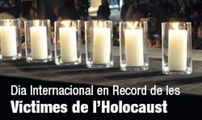 Imatge commemorativa del Dia Internacional en record de les víctimes de l'Holocaust