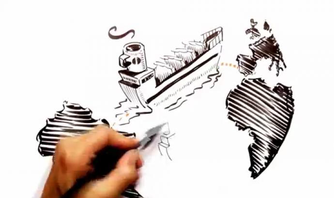 Fotograma del vídeo sobre Comerç Just de SETEM - Comunitat Valenciana Font: