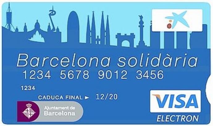 Imatge Targeta Barcelona Solidària Font: